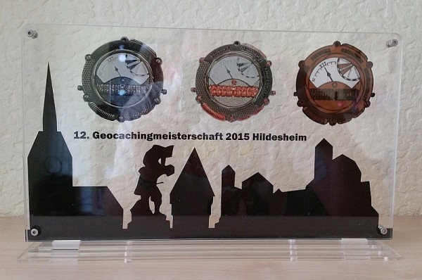 Geocoin Präsenter 12. Geocaching-Meisterschaft Hildesheim 2015