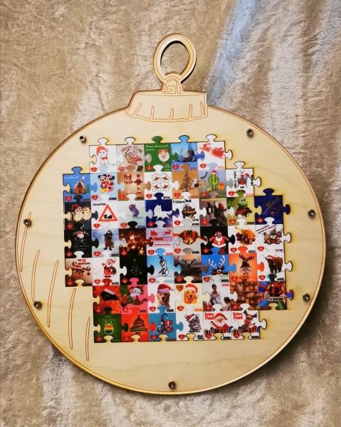 Puzzle-Aufbewahrung für den Adventkalender