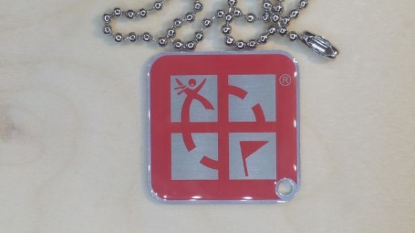 Original Groundspeak Logo Travel Tag pink
