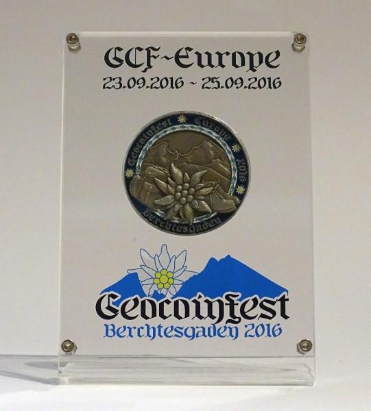 Geocoinpräsenter GCF 2016 schlicht