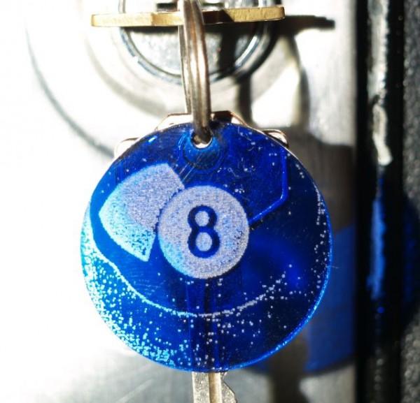 Schlüsselanhänger Eightball
